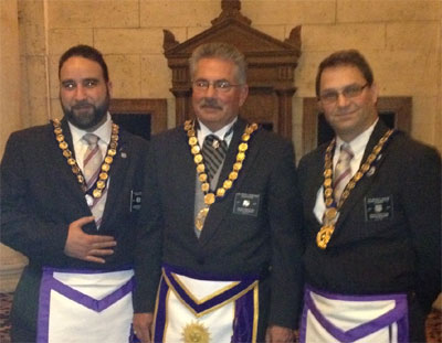 Fidelity Grand Officers with Grand Master